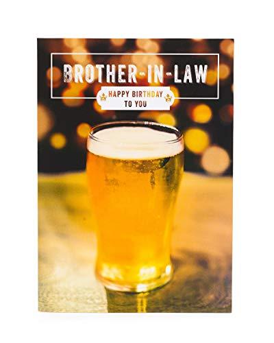 Brother-In-Law Verjaardagskaart - Verjaardagskaart voor Brother-In-Law - Bier Verjaardagskaart Brother-In-Law - Verjaardagscadeaus voor Brother-In-Law - Cadeaukaart voor Hem - Bier Verjaardagscadeaus