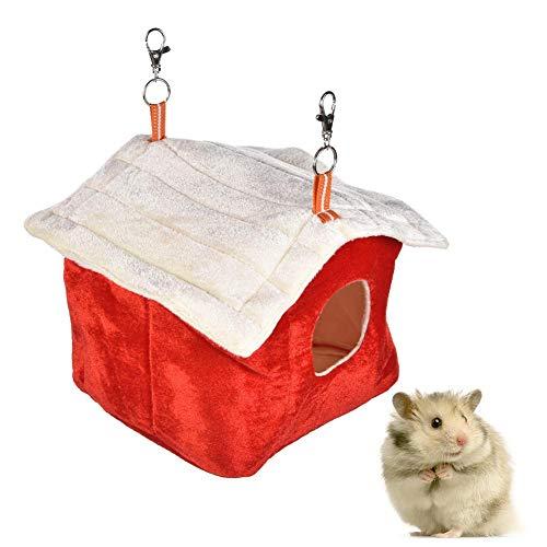 Cama para hámster de algodón para hámster, cálida cama de conejo, transpirable, fácil de limpiar, suave y cómoda
