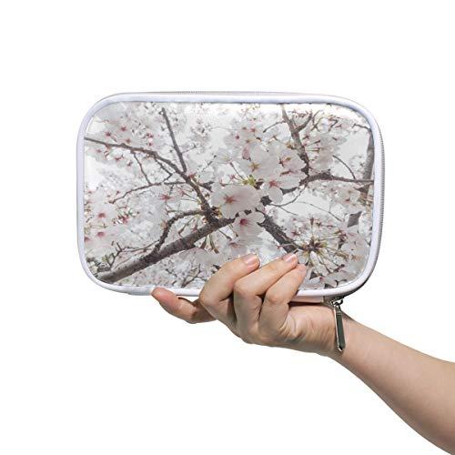 Trousse de toilette de voyage pour femmes Sakura Blossom Osaka Japon drôle trousse à crayons beauté sac de maquillage multifonctionnel petit sac de maquillage pour sac à main pour hommes femmes