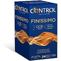 Control Finissimo - Caja de condones máxima sensibilidad, 24 unidades