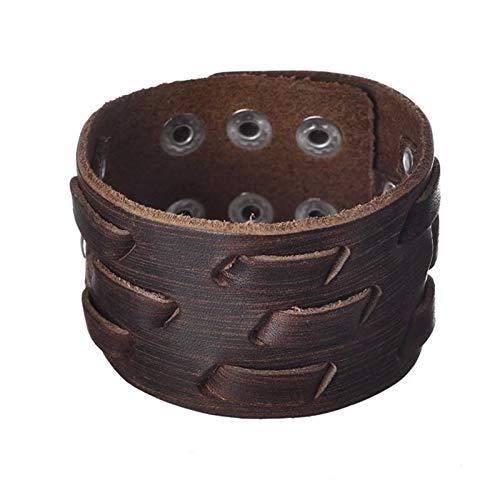 ZYQXB Retro Wide-sleeved Men's BraceletMen's Wristband (Metal Color : Style 15)