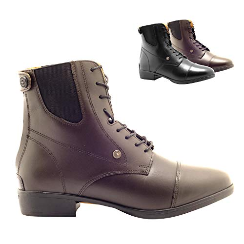 SUEDWIND FOOTWEAR »Advanced II BZ LACE« REIT-Stiefelette | Reißverschluss hinten | Echt-Leder | Ortholite Sohle | Tolle Passform, hoher Komfort, robust | Schuh-Größen 43 | Stiefel-Farbe: Braun