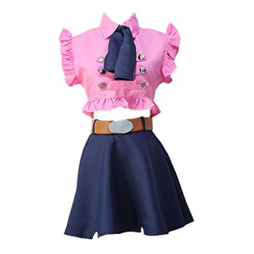 MLYWD Cosplay Kostüm Halloween Maskerade Anime Die Sieben Todsünden Elizabeth Liones Tägliche Uniform Anzüge mit Zubehör 4PCS / Set