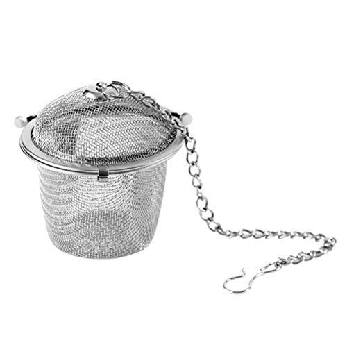 UPKOCH Hoja de Acero Inoxidable infusor de te colador de te Filtro de te difusor para Hojas Sueltas y teteras 4.5cm