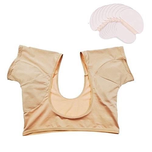 PAPIKOOL 10 Pcs Coussinet Anti Transpirant+1pcs Patchs Anti Transpiration Gilet, Qualité Supérieure Lutte Contre L'hyperhidrose pour Hommes Et Femmes Confortable (Size : M)