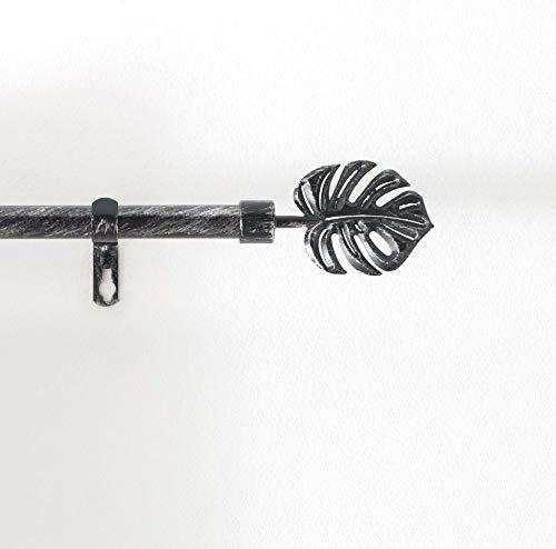 Gardinenstangen-Set, Deko, außen, 19 mm, 120 < 210 cm, Patina, Schwarz/silberfarben