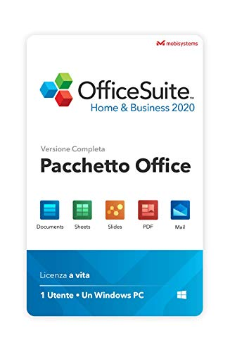 OfficeSuite Home & Business 2021 – Licenza Completa – Compatibile con Microsoft® Office Word, Excel & PowerPoint® e Adobe PDF for PC Windows 10, 8.1, 8, 7 (1PC/1User)