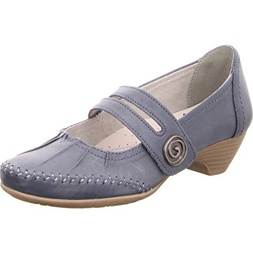 Jana/Pumps/H-Weite(Jeansblau) 4cmABsatz 8-24311-22 846 (40, Jeans)
