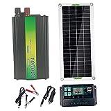 Baoblaze Kit de Inicio de Panel Solar de 30 W 220 V, módulo fotovoltaico monocristalino de Alta eficiencia para el hogar, Camping, Barco, Caravana, RV y Otras - 60A