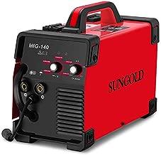 SUNGOLDPOWER MIG Welder 140A Gas and Gasless Welding 110/220V Dual Voltage IGBT DC Inverter Welding Machine Including Flux Cored Wire