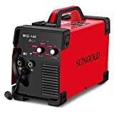 SUNGOLDPOWER MIG Welder 140A Gas and Gasless Welding 110/220V Dual Voltage IGBT DC