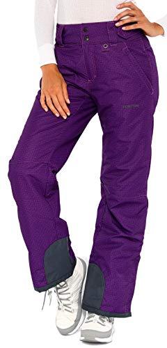 ARCTIX Damen Schneehose Insulated Pants, Damen, Women's Insulated Snow Pants, Moguls Print Purple, Small Regular