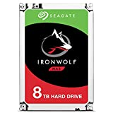 Seagate IronWolf, 8TB, NAS, Unidad de Disco Duro Interna, HDD, 3,5 in, SATA 6 GB/s,...