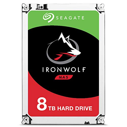 Seagate IronWolf 8Tb NAS Internal Hard Drive HDD – 3.5 Inch SATA 6GB/S 7200 RPM 256MB Cache for Raid Network Attached Storage (ST8000VN0022),Silver