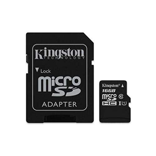 Kingston geheugenkaart 16 GB klasse 10 + adapter voor NVIDIA Shield Tablet K1