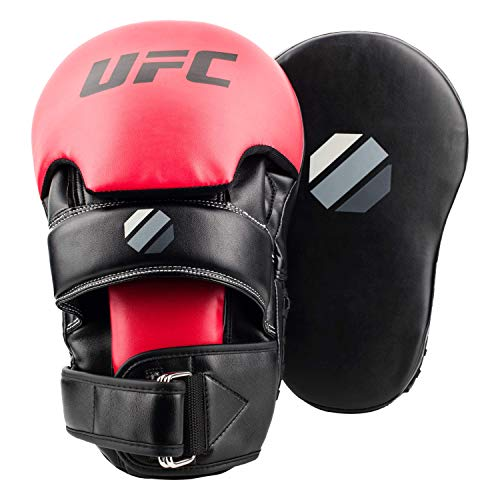 UFC Long Curved Focus Mitts Black/Red One Size