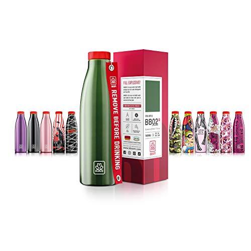 BBOOM Mod. BB Botella Térmica Acero Metalizado Verde