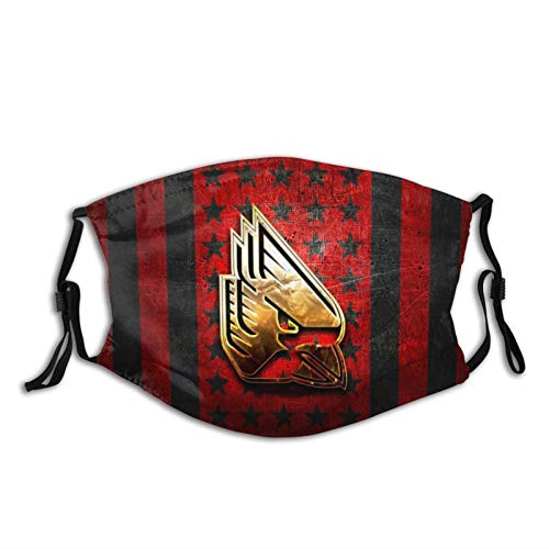 Modische und praktische winddichte Ohrringe mit Sonnenschutz, rot und schwarz, Metall-Hintergrund, amerikanische Männer und Frauen, atmungsaktiv, Staub-Mundschutz