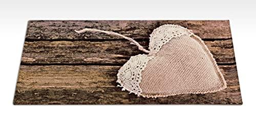 Passatoia tappeto cucina antiscivolo lavabile in lavatrice stampa digitale CUORE DI PEZZA 60X190 CM