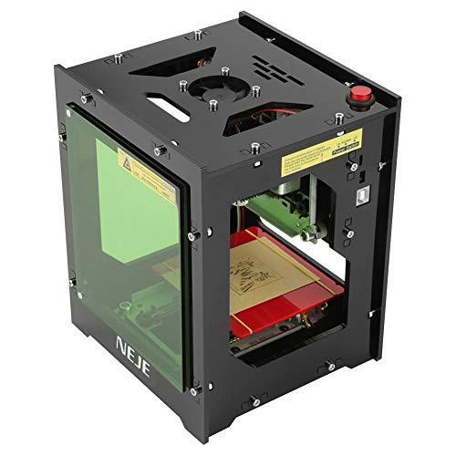 NEJE DK-BL Laserdrucker 1500 mW, 550 x 550 Pixel, hohe Auflösung, Art Craft Science Industry Cutter Lasergravur High Speed Mini USB Carver Maschine Bluetooth 4.0 mit Schutzbrille
