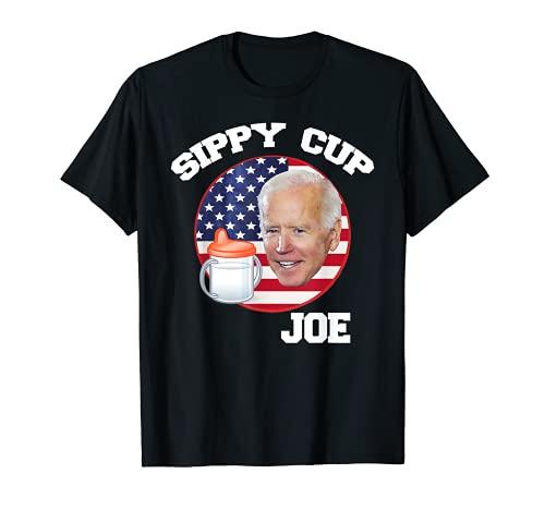 Sippy Cup Joe Biden Funny Political Satire T-Shirt