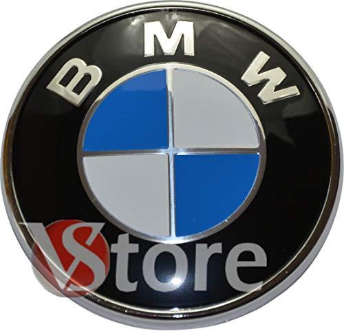 VS Stemma Emblema per Cofano 74mm Compatibile con Logo Blu e Bianco 3-Series, 5-Series, 6-Series, 7-Series, X1, X3
