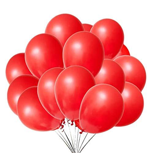 QYY Globos Rojo,Globos de látex de 12 Pulgadas para Helio,Globos para Bodas Aniversario San Valentin, Cumpleaños Fiesta Graduacion Decoracion