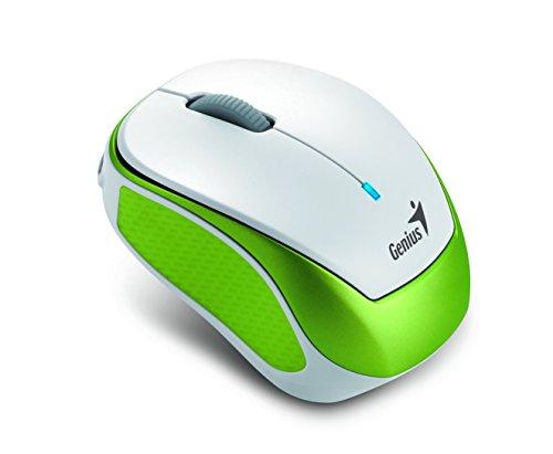 Genius Micro Traveler 9000R V2 RF inalámbrico IR LED 1200DPI Verde, Color Blanco - Ratón (IR LED, RF inalámbrico, 1200 dpi, 38 g, Verde, Blanco)