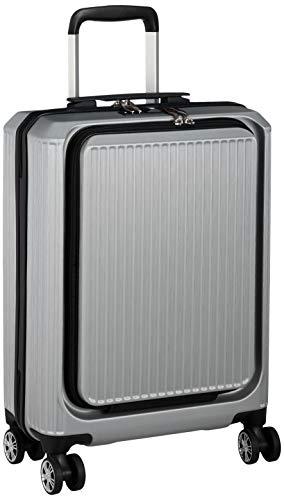[アクタス] スーツケース ジッパー フロントオープン ポライト2 機内持ち込み可 37L 54.5 cm 3kg シルバー