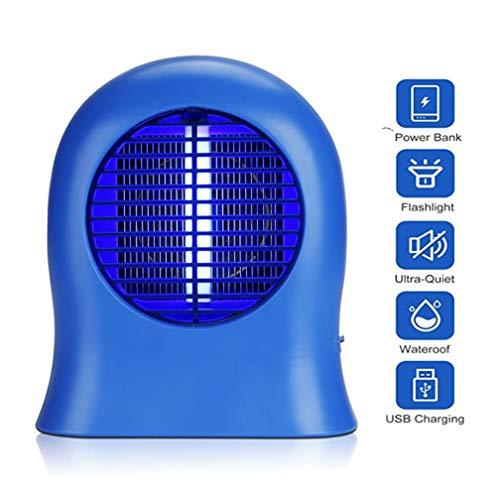 Moskito-Mörder-Lampen-Trap-Moskito Licht Tragbare Moskito Zapper mit eingebautem Ventilator USB aufladbare Fliegenvernichter for Indoor-Baby-Raum-Anwendungen im Büro, Blau