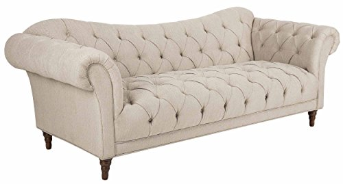 Homelegance St. 92' Claire Fabric Chesterfield Sofa, Almond Brown