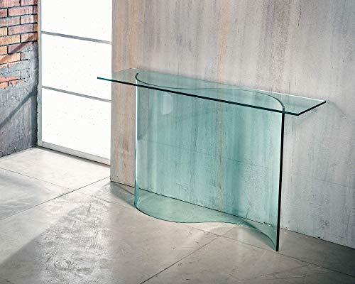 IMAGO FACTORY Ribbon – Consola de salón – Puente de cristal curvado