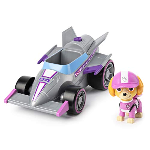 PAW PATROL 6058586 Skye's Vehicle with, for Kids Aged 3 Years and Over Ready, Race, Rescue Skye's Race & Go Deluxe Fahrzeug mit Sounds, für Kinder ab 3 Jahren, Mehrfarbig