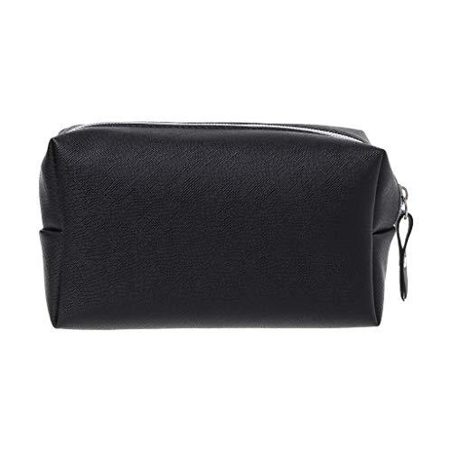 Mikiya make-up tas van leer, pennenzak, handtas voor schrijfwaren, grote capaciteit