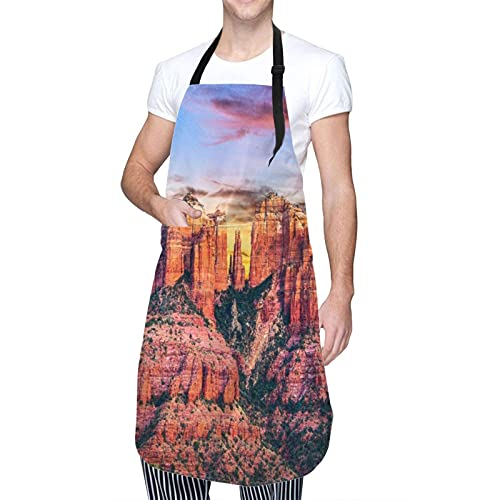 Adjustable Neck Hanging Personalized Waterproof Apron,Sugar Skull Girl In Decorative Flower Wreath,Kitchen Bib Gown for Men Women with 2 Center Pockets