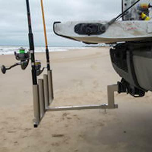 Truck Hitch Adjustable Rod Fishing Pole Holder for Trailer Mount...