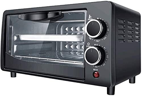 Temperatura ajustable automática de 12L MINI 0-230 ℃ y 60 minutos Temporizador Posición de hornear de doble capa Hogar para hornear multifunción multifunción (color: negro)