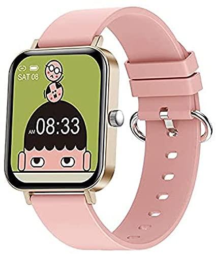 LLM Moda multifunción múltiples Modos Deportivos 1.69 Pulgadas de Pantalla Grande Reloj Inteligente Fitness Health Tracker Sport Smartwatch para Android iOS(E)