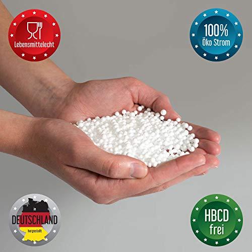 Bruni FILLcloud Sitzsack-Nachfüllpack (100 l) – lebensmittelechte EPS-Perlen aus Deutschland, Neuware, Verschiedene Größen, nachhaltige Sitzsack-Füllung
