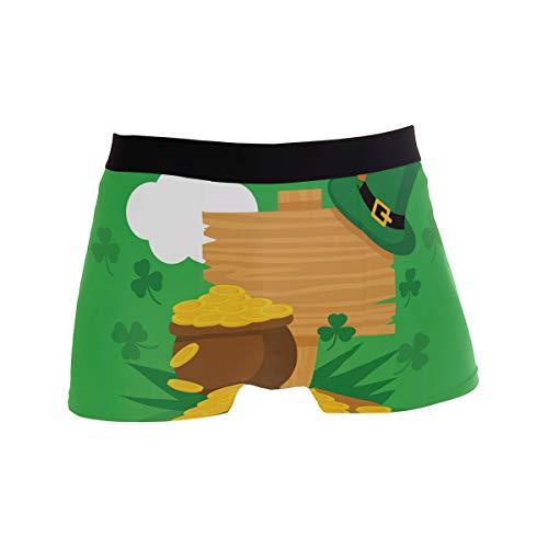 PINLLG Herren-Boxershorts St. Patrick's Day Unterwäsche für Jungen, Jugendliche, Polyester, Spandex, atmungsaktiv Gr. L, mehrfarbig