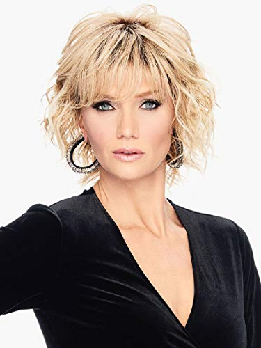 """Breezy Wave Cut Wig Color SS25 Ginger Blonde - Hairdo Wigs 7"""" Short Cropped Bob Multi-Layered Soft Wavy Heat Friendly Synthetic Curly Basic Avg Cap Bundle MaxWigs Hairloss Booklet"""