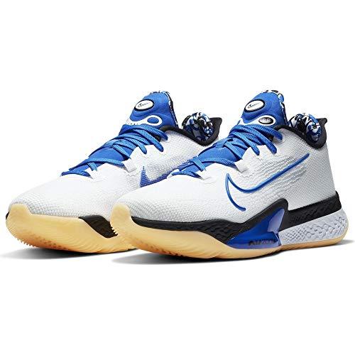 Nike Zapatillas de baloncesto Air Zoom BB NXT para hombre, blanco (Blanco/Hyper Royal-Negro), 42.5 EU
