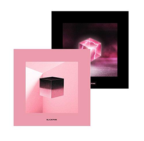 GENIE MUSIC Blackpink - Square UP [Pink+Black ver. Set] (1st Mini Album) 2CD+Photobook+Renticular Lyrics+Postcard+Photocards+1Double-Side Folded Poster