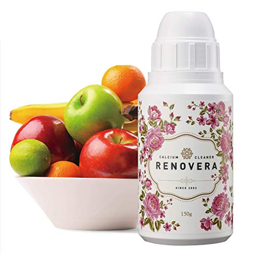 Organic Fruit and Vegetable Cleaner | Renovera(Rosa.L), Calcium-Based Powder, Veggie Wash, 5.3 Ounce