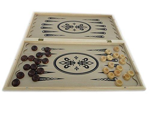 3 in 1 Spiele-Set - Schach, Dame und Backgammon, 50x50 cm / NARDY / TAVLA