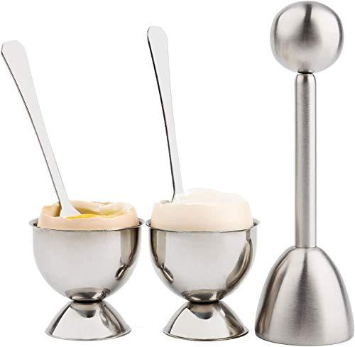 Dlmk Utensile Separatore Di Uova Sode Set-splitter Per Uova Set Di 5 Pezzi Set-separatore Di Gusci D'uovo In Acciaio Inox Utensili Da Cucina-semplice Apri-uova
