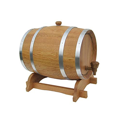 QSJY Oak Timber Wine Barrel, Mini Barrel with Bourbon, Seal the Barrels for Perfect Centerpiece (Color : True colors, Size : 20 liters)