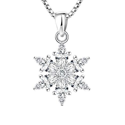 YL Ciondolo fiocco di neve collana donna neve pendente neve donna gioielli