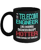 N\A Taza de café de la Taza del Ingeniero de telecomunicaciones - más Caliente y más fría