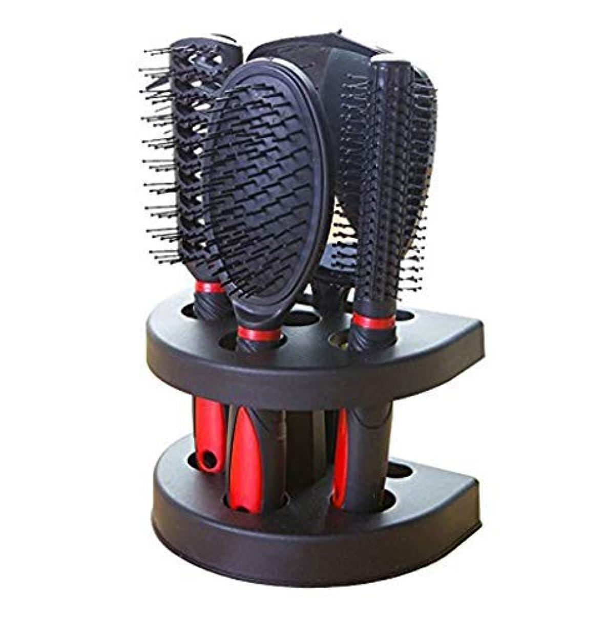 確執負追うHealthcom Hairs Combs Salon Hairdressing Styling Tool Hair Cutting Brushes Sets Dressing Comb Kits,Set of 5 [並行輸入品]